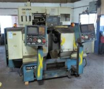 Takamatsu Model TKK-2S Spindle CNC Chucker S/N: 8512-902 Fanuc 10T CNC Control. Loading Fee is $350.