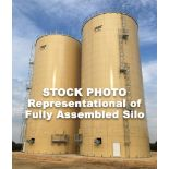 52.31' x 93.02' Steel Bolted Silo, Never Erected-On Ground, Appx 143,000 cu ft, 115 mph wind conditi