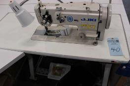 Juki model LU-1508N sewing machine s/n 8L8JB01066 w/Sewing Table