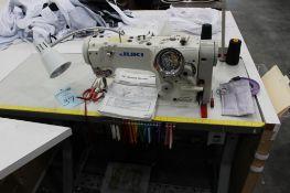 Juki model LZ-2280A sewing machine s/n 8L2KC00667 w/Sewing Table