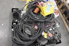 pallet of assorted wire & cords