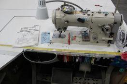 Juki model LZ-2280N sewing machine s/n 2L2040237 w/Sewing Table