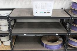 (5) Storage shelves w/contents