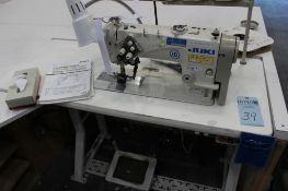 Juki model LH-3578A two needle sewing machine s/n 8L3HF12095 w/Sewing Table