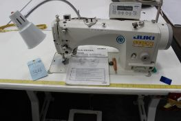 Juki model DLN-9010A-SH sewing machine s/n 2D31000018 w/Sewing Table