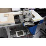Juki model LZ-2280A sewing machine s/n 8L2KC00570 w/Sewing Table