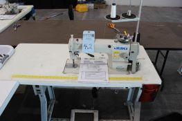 Juki model DDL-8700 sewing machine s/n 400HF12333 w/Sewing Table