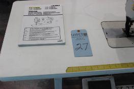 Juki model LU-1508N sewing machine s/n 3L85A01166 w/Sewing Table