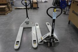 (2) Roughneck 4400 lb. pallet jacks (late delivery must call for appointment)