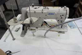 Juki model LZ-2280A sewing machine s/n 8L2HB11083 w/Sewing Table