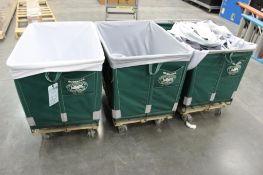 (3) 10-bushel Dandux laundry carts