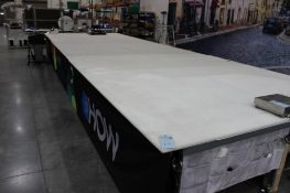"""(6) 5' x 10'6"""" cutting tables (no contents on top)"""