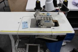 Juki model MO-6716S class FF6-50H sewing machine s/n 8M6HH02287 w/Sewing Table