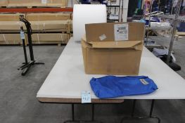 """(2) 30"""" x 96"""" folding tables w/contents"""