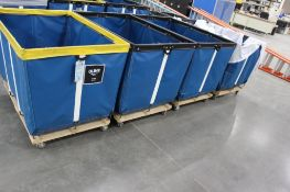 (4) Uline 20 bushel Model H-1580 laundry carts