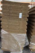 (6) bundles of cardboard various sizes