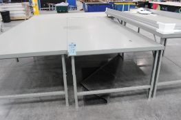 """(5) 5' x 10'6"""" cutting tables (no contents on top)"""