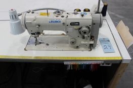 Juki model LZ-2280N sewing machine s/n LZ0EA52Z60 w/Sewing Table