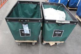 (2) Uline 6 bushel laundry carts model H-1806