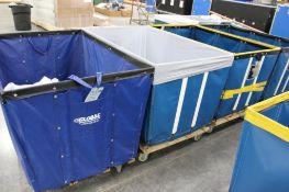 (4) 24-bushel laundry carts; 3-ULine model H-2099 &1- Global