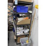 (3) 2' x 4' storage shelves w/contents