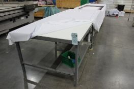 """(2) 5' x 10'6"""" cutting tables (no contents on top)"""