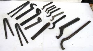 Lot Assorted Armstrong & Williams Spanner Wrenches