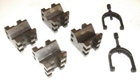 (4) Brown & Sharpe No. 750-2 Precision V-Blocks & Clamps
