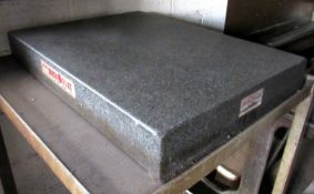 "(2) Collins Microflat 18"" x 24"" Granite Surface Plates"