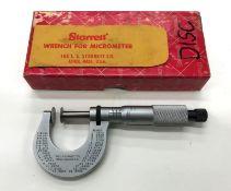 "Starrett No.256 0-1"" Disc Micrometer"