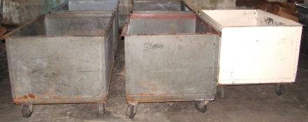 """36"""" x 36"""" x 45"""" Steel Material Bins"""