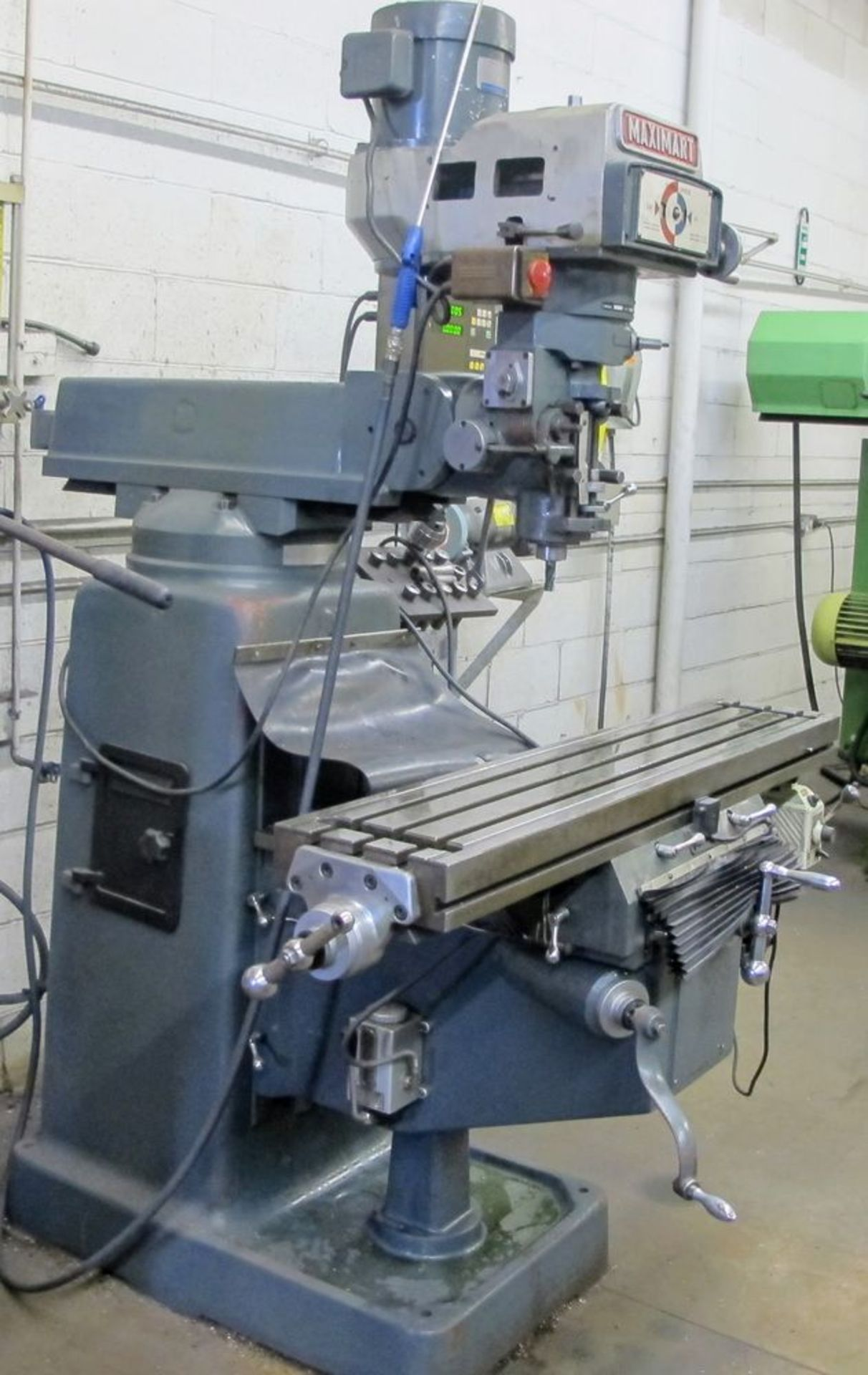 MAXIMART 3 HP VERTICAL MILLING MACHINE, MODEL S-3VS, S/N 95772, FAGOR 2 AXIS DRO, COLLET SET W/ - Image 6 of 7