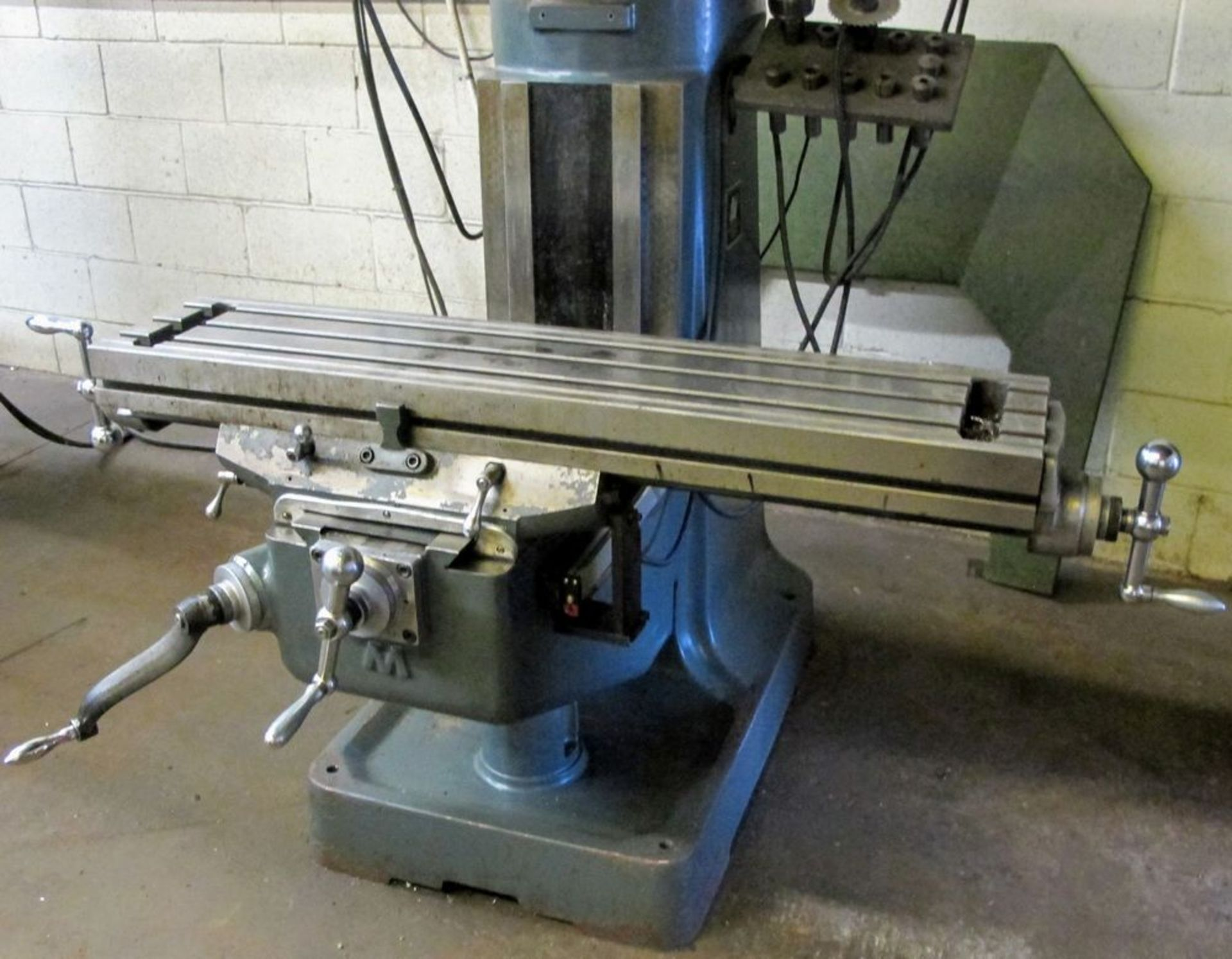 MAXIMART 1-1/2 VS VERTICAL MILLING MACHINE, 455-4300 RPM, S/N 95388, FAGOR 2 AXIS DRO, COLLET SET - Image 4 of 7