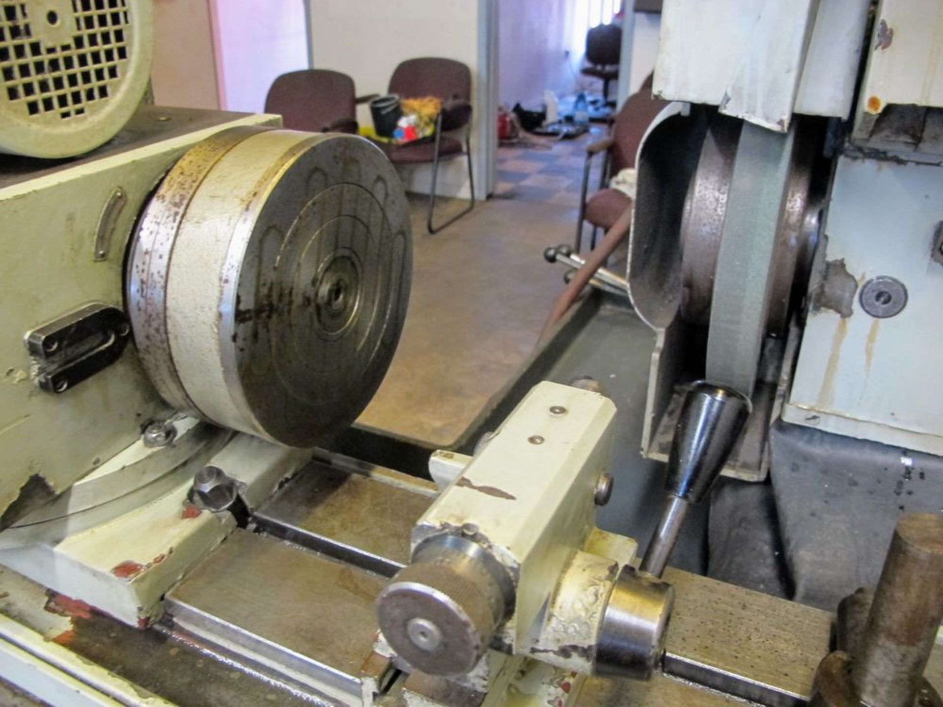 """TOS BU28-630 CYLINDRICAL GRINDER, 11"""" X 24"""", S/N 578016 W/8"""" MAGNETIC CHUCK, TAIL STOCK, TOOL - Image 4 of 6"""