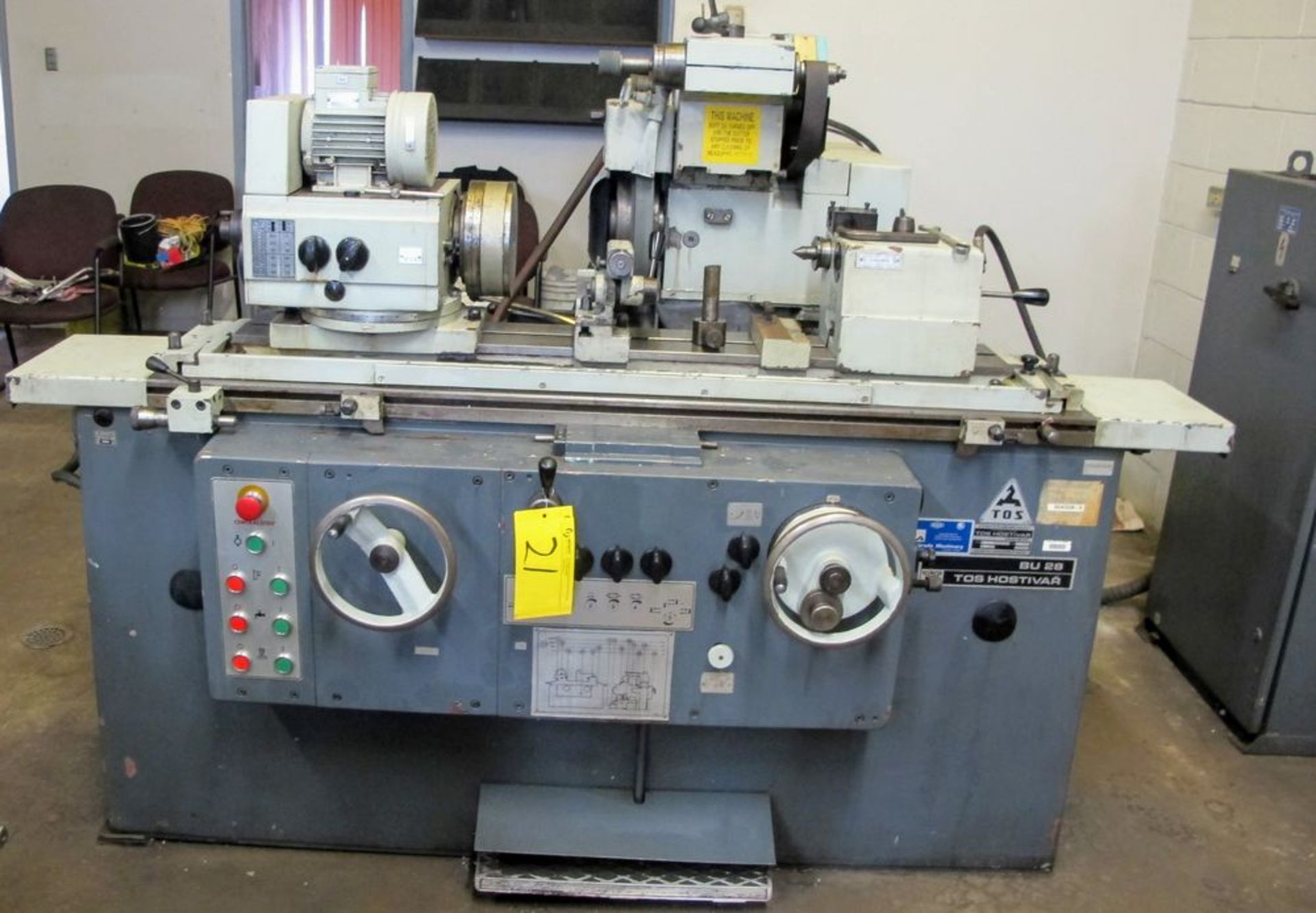 """TOS BU28-630 CYLINDRICAL GRINDER, 11"""" X 24"""", S/N 578016 W/8"""" MAGNETIC CHUCK, TAIL STOCK, TOOL"""