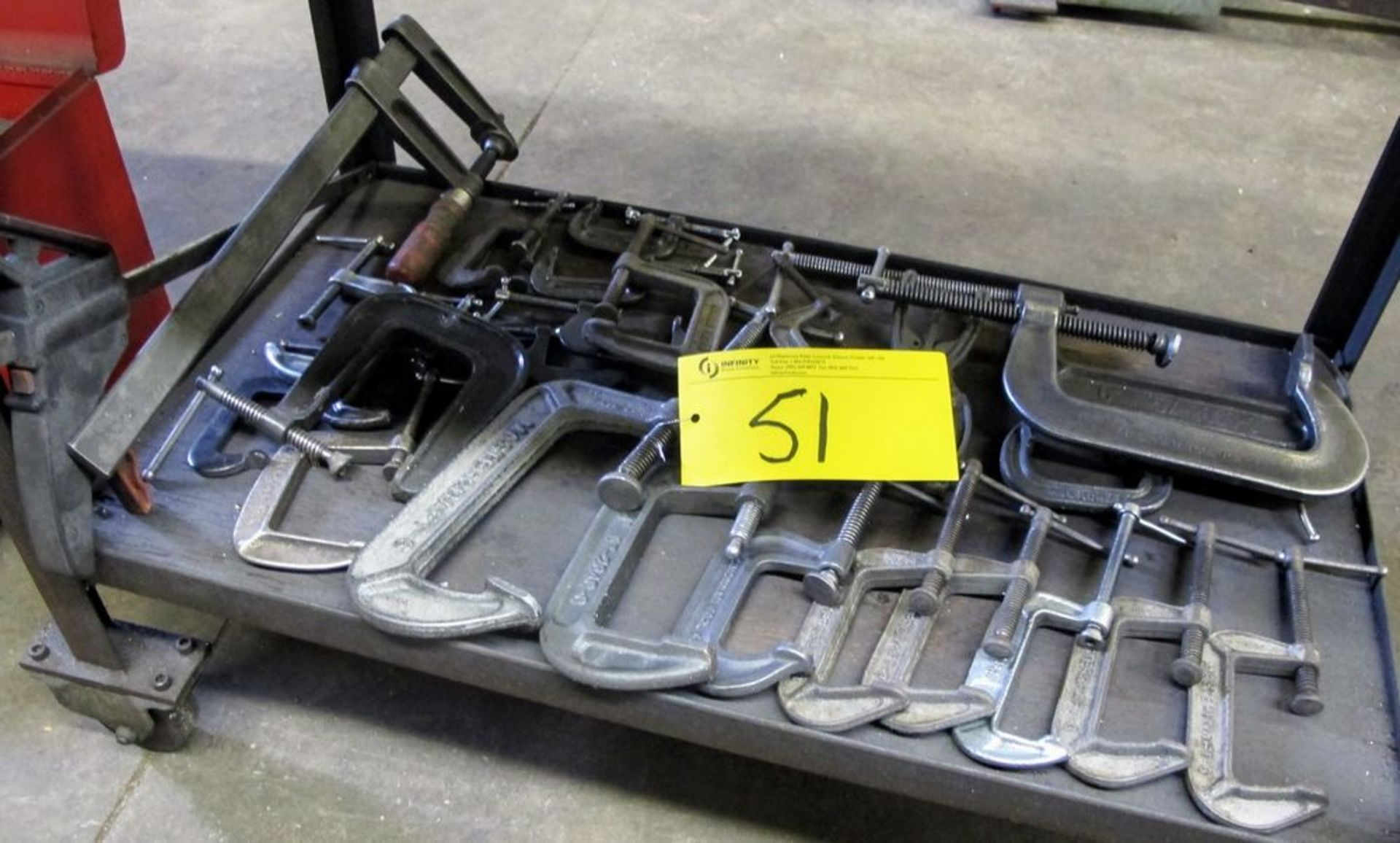 QUANTITY OF C AND BAR CLAMPS