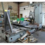 """TOS W100 HORIZONTAL BORING MILL, ACU-RITE 4-AXIS DRO, 4"""" SPINDLE, 14 TO 1,120 RPM, 49"""" X 49"""" POWERED"""