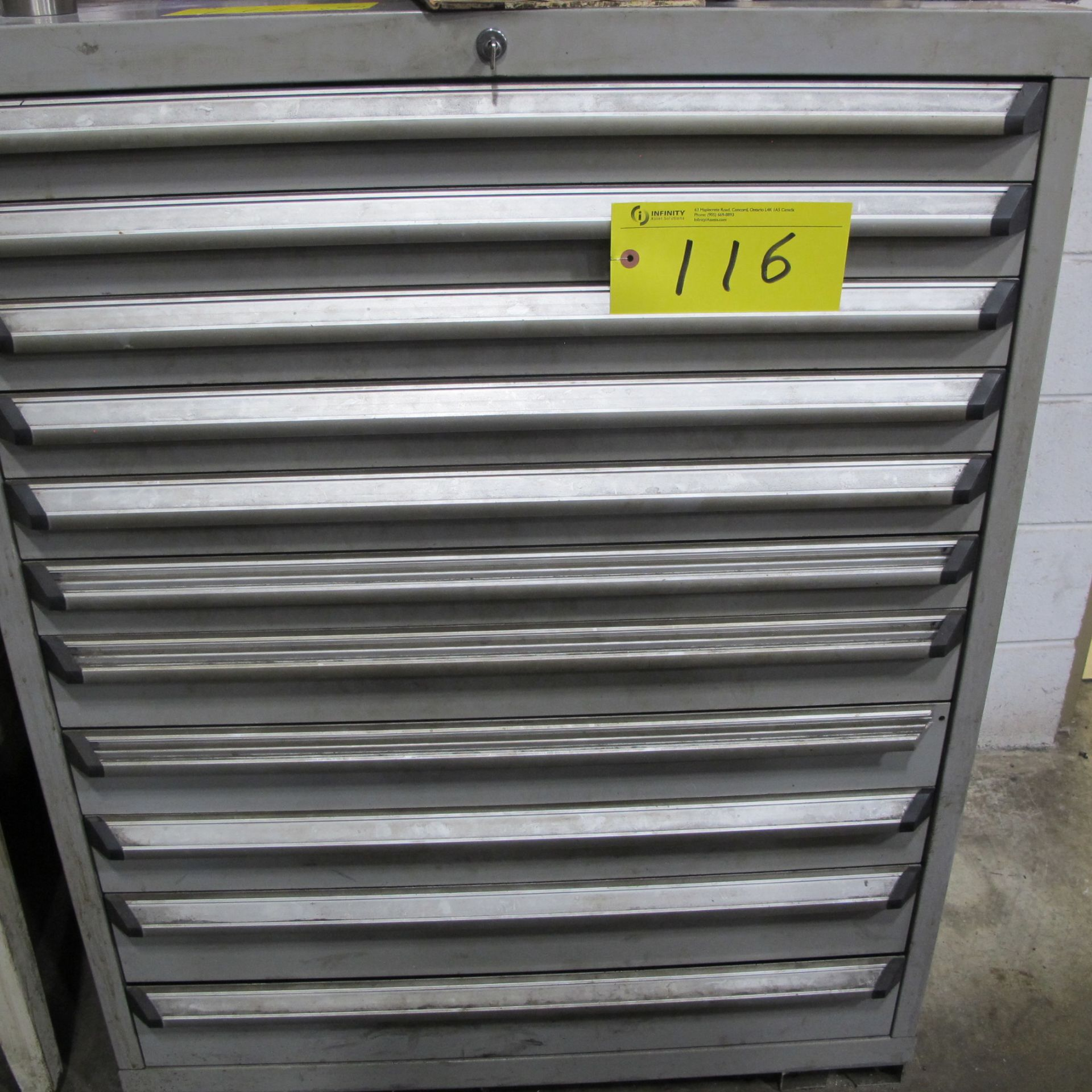 Lot 116 - ROUSSEAU 11 DRAWER CABINET (NO CONTENTS)
