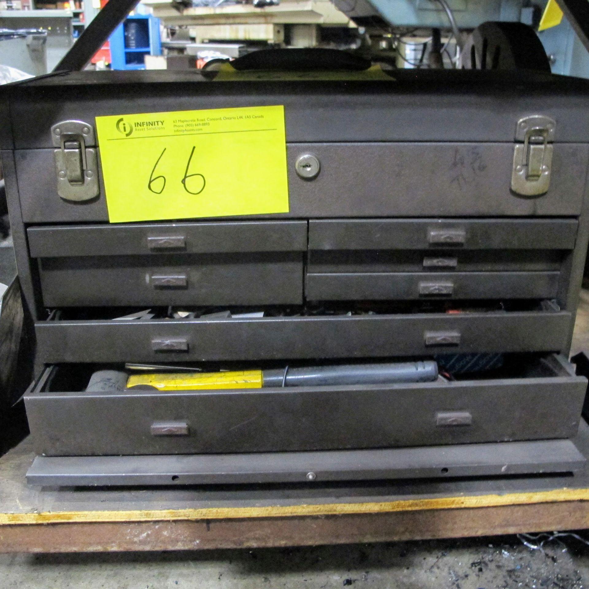 7 DRAWER TOOL BOX W/TOOLS