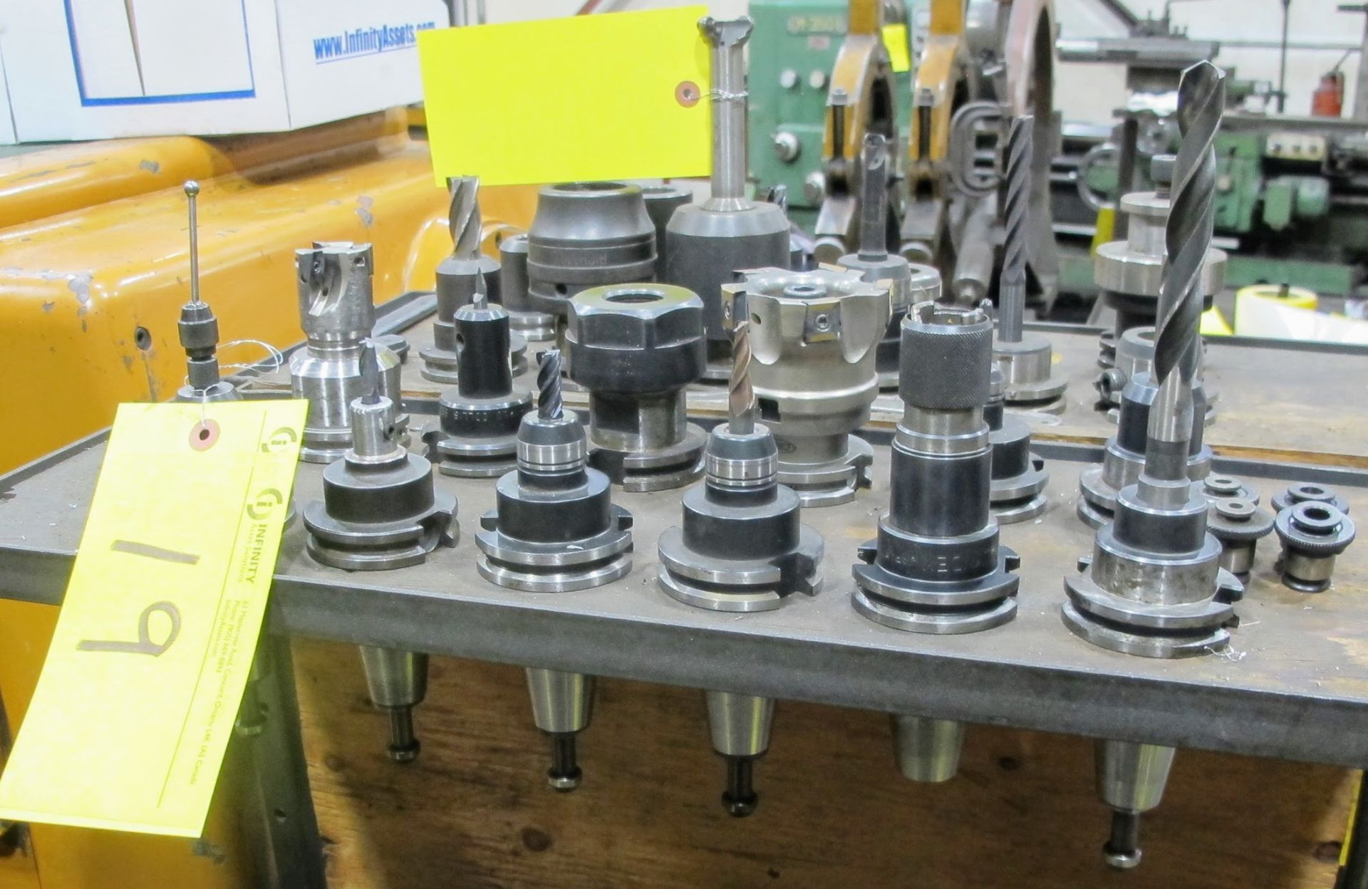 LOT OF 12 CAT 40 TOOL HOLDERS W/ATTACHMENT