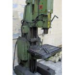 """ARBOGA MASCHINEN M3/4/7 DRILL PRESS, 1 1/4"""" BORES, 60V, 28"""" X 20"""" TABLE, 63 TO 800 RPM, S/N 16225"""