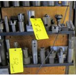 LOT OF TOOL HOLDERS, ARMS, BORING BARS AND CUTTING HEADS