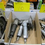1 BOX OF CAMPBELL HAUSFIELD, CP PNEUMATIC TOOLS (CHISEL, POLISHER, ANGLE GRINDER)