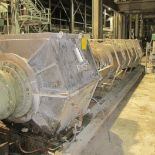 THUNE/KVAERNER HYMAX SP-100 SL HC DEWATERING PRESS/SCREW, S/N 49918-101 W/ GEARBOX