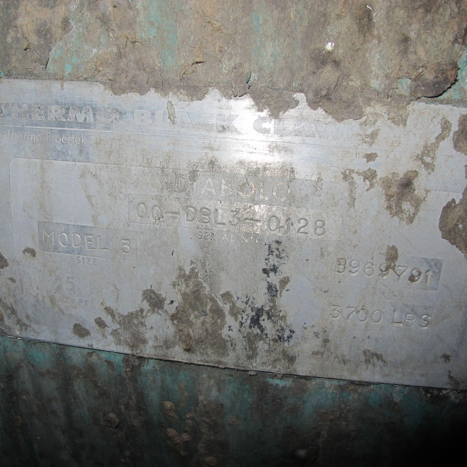 Lot 105 - BLACK CLAWSON DIABLO MODEL 3 SCREEN/DETRASHING, 486 RPM, S/N SN00-DBL3-0128, STAINLESS STEEL