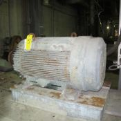 TOSHIBA/RELIANCE A/C MOTOR, 150HP, 710 RPM, 449T FRAME, NO. 2 SLUDGE AND REJECTS PUMP, 2,650LBS (
