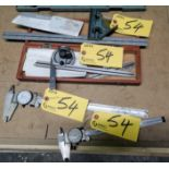 LOT MITUTOYO BEVEL PROTRACTOR AND CALIPERS (4PCS)