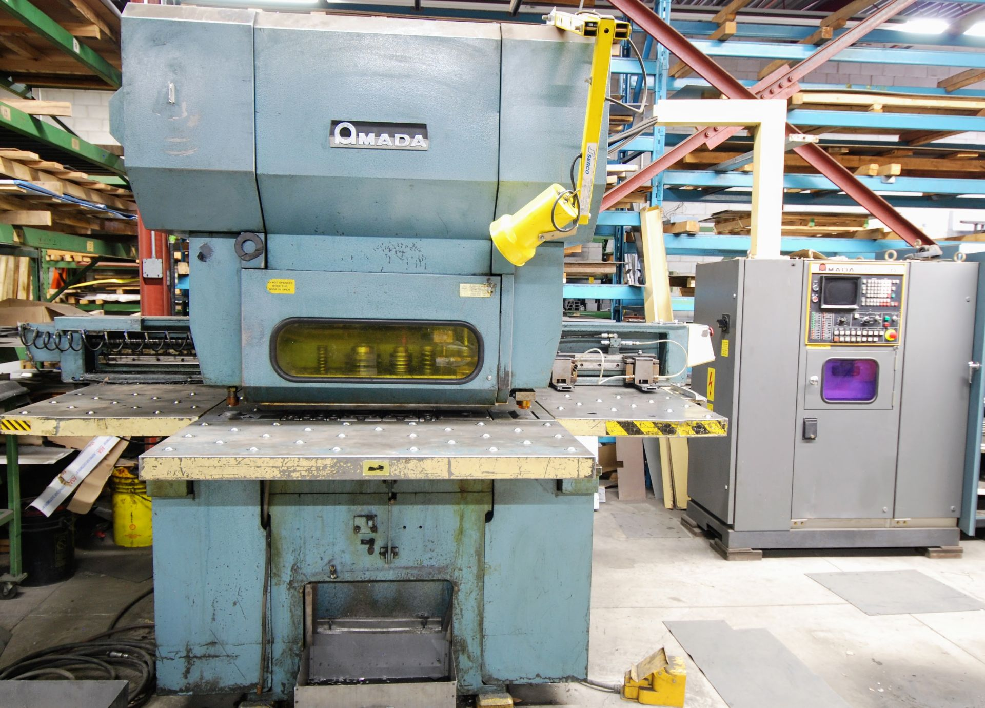 Lot 1 - AMADA OCTO-334 NC TURRET PUNCH, 33 TON CAP., 300 SPM, FANUC SYSTEM 6M CONTROL, S/N 3340454 W/