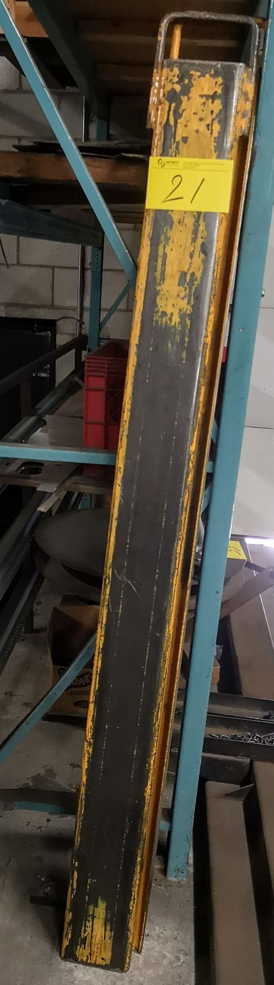 """Lot 21 - PAIR OF 74"""" FORKLIFT FORK EXTENSIONS"""