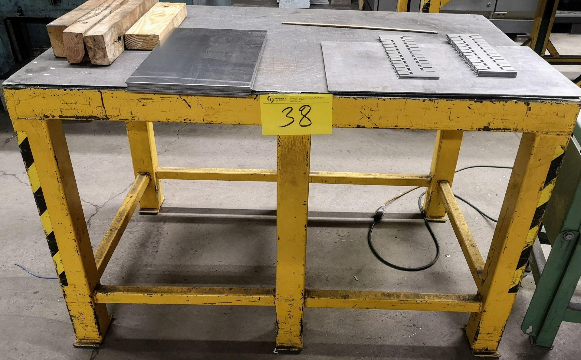 "Lot 38 - 48"" X 30"" X 30"" STEEL WORK TABLE"